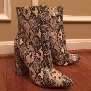 Pretty Little Thing Snakeskin Boots